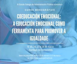 Curso monográfico Coeducación emocional: a educación emocional como ferramenta para promover a igualdade